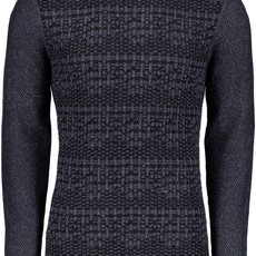 Long Sleeve Mix Stitch Henley