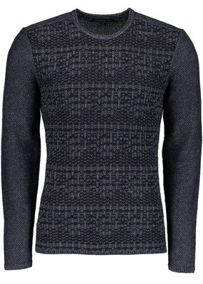 John Varvatos John Varvatos Long Sleeve Mix Stitch Henley