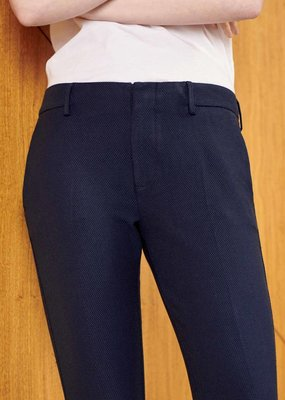 Reiko Cigarette Trousers Lizzy Fancy-Navy Dots