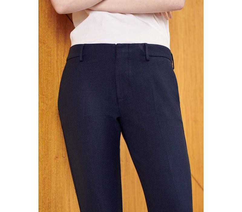 Cigarette Trousers Lizzy Fancy-Navy Dots