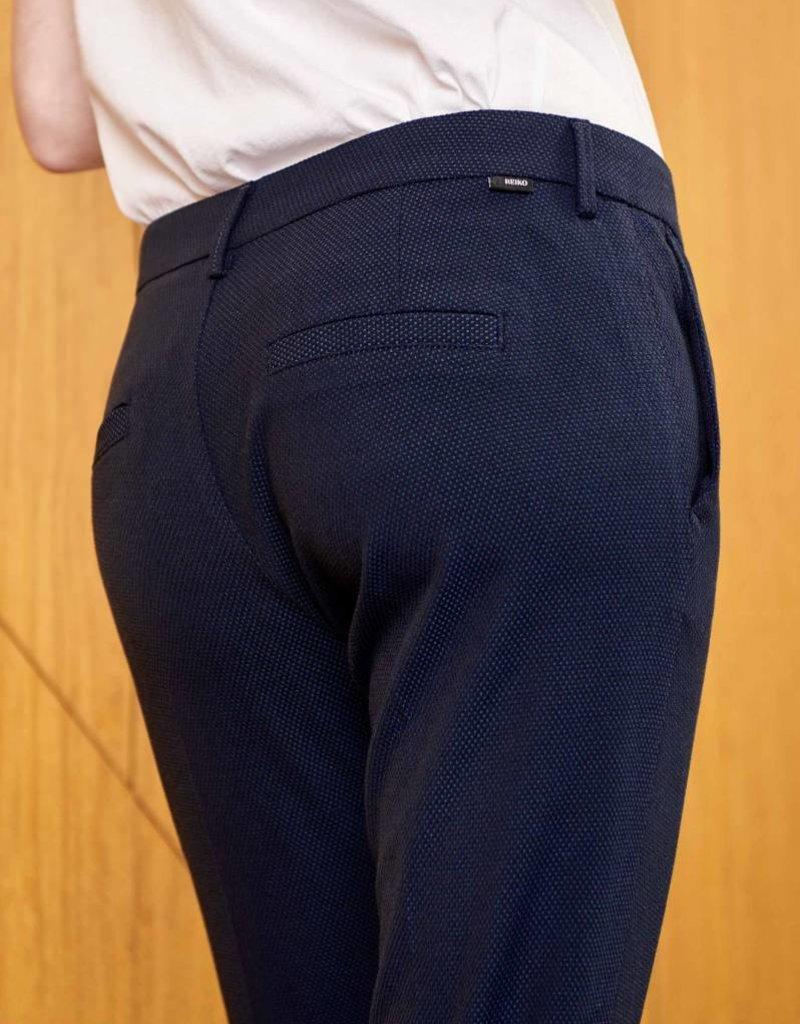 Reiko Cigarette Trousers Lizzy Fancy-Navy Dots