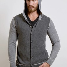 Colorblock Button Hoodie