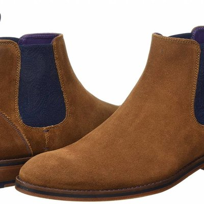 Ted Baker Camroon Ankle Boot Navy and Tan