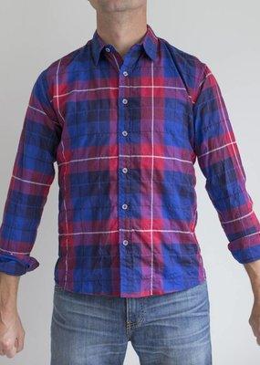 Raleigh Denim Workshop Raleigh Plaid Classic Button Up Shirt