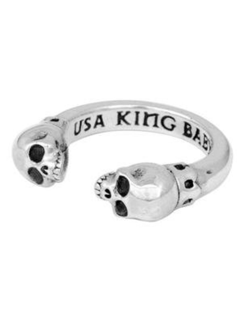 King Baby King Baby Open Ring W/ Skulls