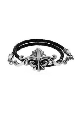 King Baby King Baby Scroll Double Leather Wrap Bracelet