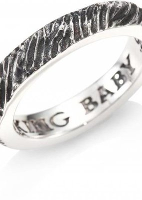 King Baby Slashed Texture Stackable Ring