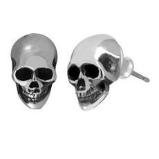 King Baby Small skull post earrings