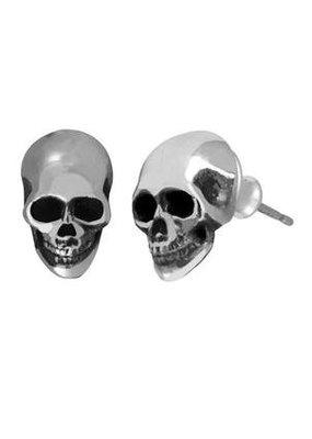 King Baby King Baby Small skull post earrings
