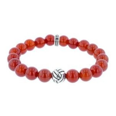 King Baby Monkey Knot 10mm Carnelian Bracelet