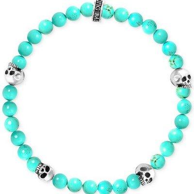 King Baby 6mm Turquoise Bead Bracelet 4 skull