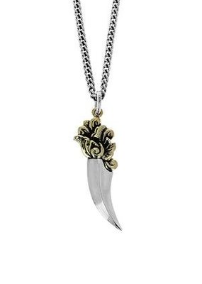 King Baby Two-Tone Sawtooth Dagger Pendant
