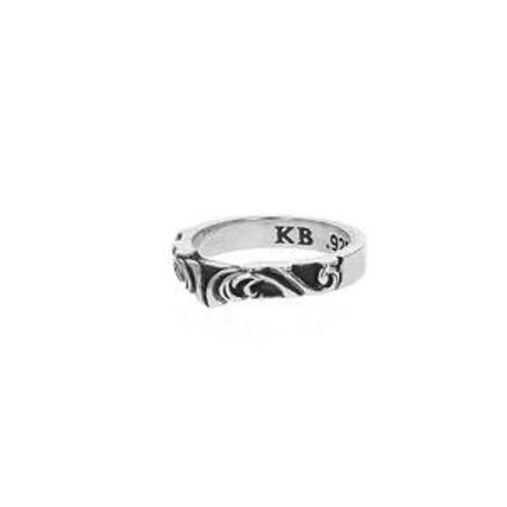 King Baby Valleyed Scroll Ring