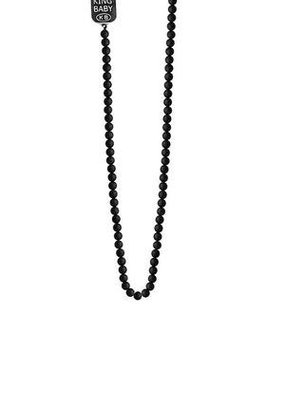 King Baby King Baby 3mm Onyx Bead Necklace