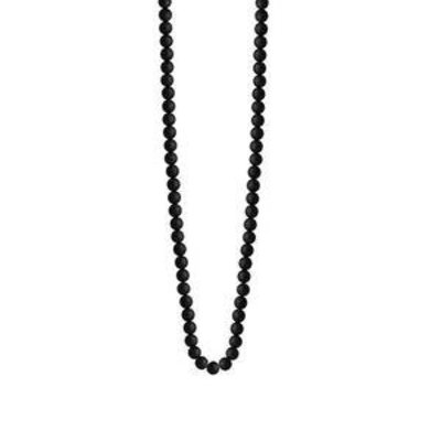 King Baby 3mm Onyx Bead Necklace