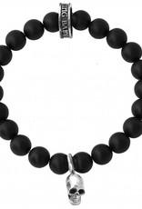 King Baby King Baby 8mm onyx bracelet skull bead