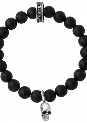 King Baby 8mm onyx bracelet skull bead