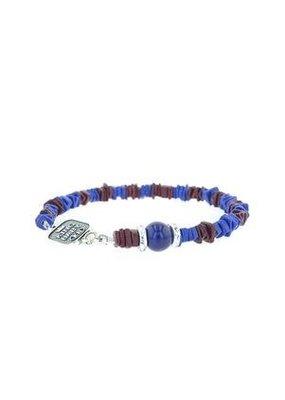 King Baby King Baby Blue & Burgundy Ceramic Chip Bracelet
