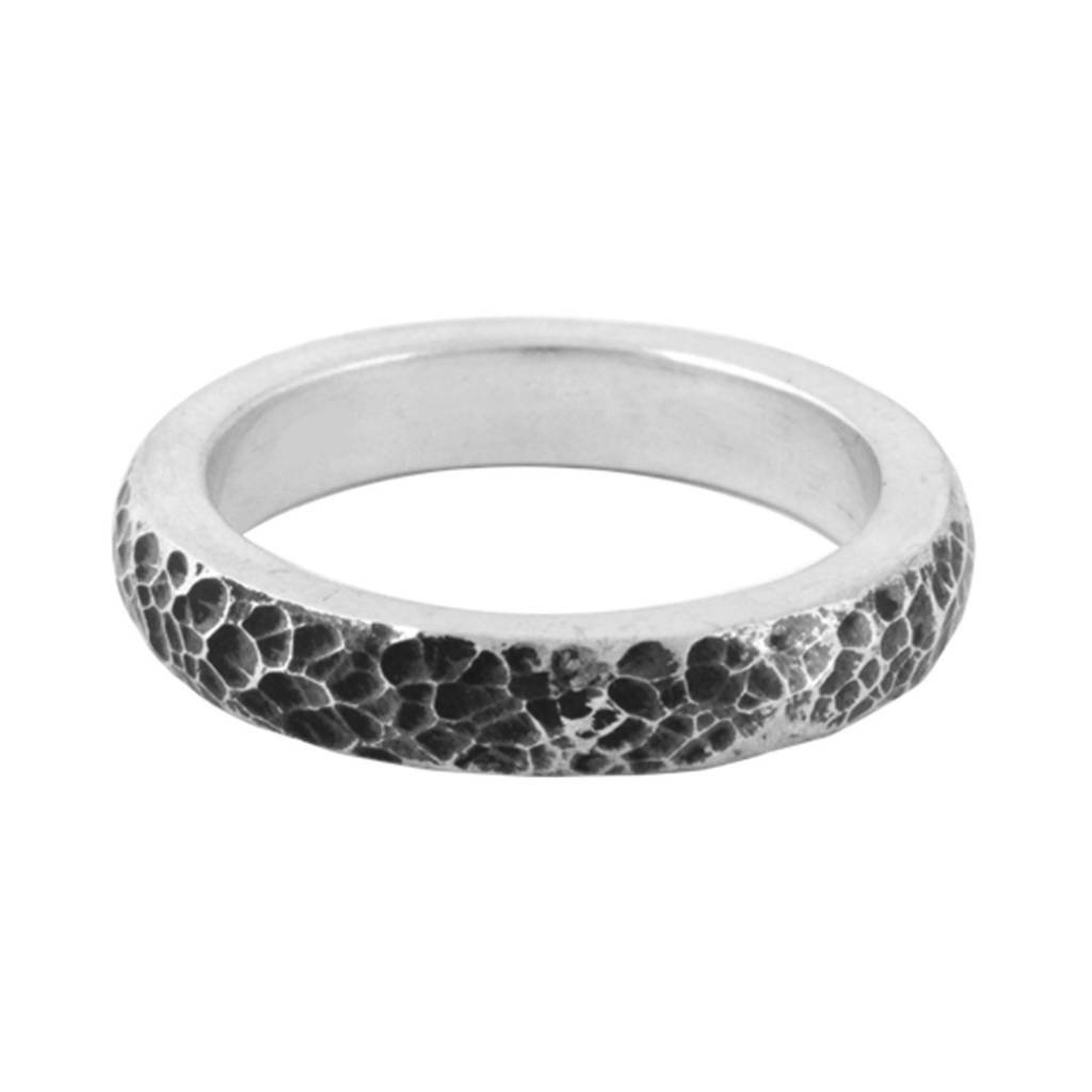 King Baby Hammered Texture Stackable Ring