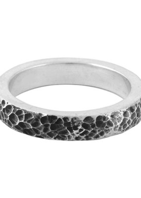 King Baby King Baby Hammered Texture Stackable Ring