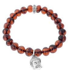 King Baby Buddha Charm 10mm Beaded Bracelet