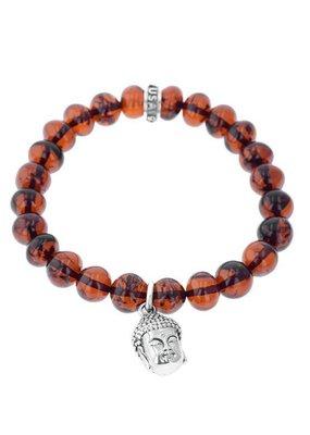 King Baby King Baby Buddha Charm 10mm Beaded Bracelet