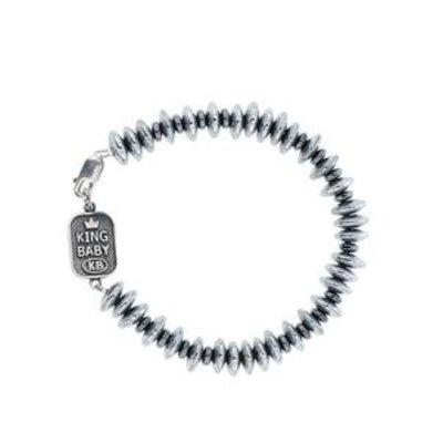 King Baby Multi Hematite Disk Bracelet