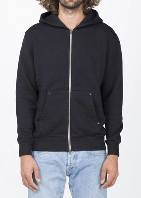 Benzak Denim Development Zip Hoodie Grey and Black