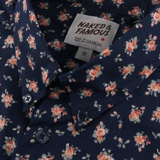 Naked & Famous Easy Shirt Floral Black & Navy