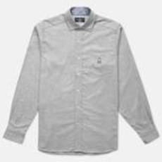 Psycho Bunny L/S Flannel Sport Shirt Heather Grey
