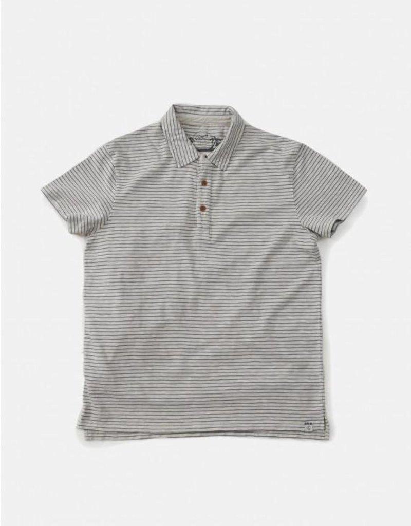 Grayers America Inc. Grey/Blue Stripe Polo