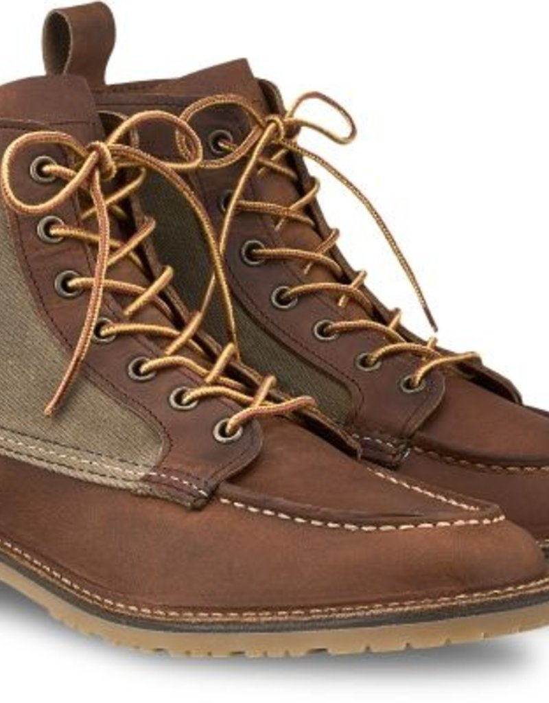 Red Wing Shoe Company Red Wing Wacouta Waxed Canvas Lug Sole Moc Boot