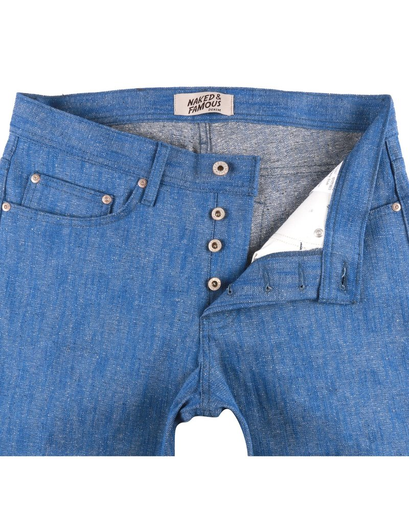 Naked & Famous Naked & Famous Weird Guy Blue Storm Slub Jean