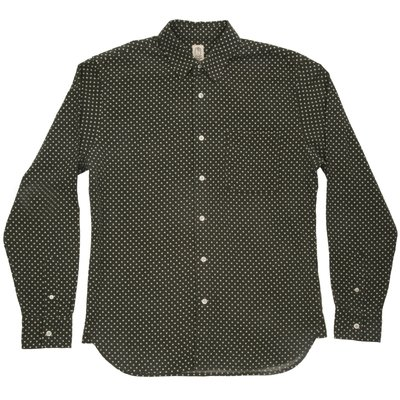 Kato Slim French Seam LS Brushed Dot
