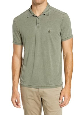 John Varvatos John Varvatos Anton Burnout Polo  w/Peace Sign