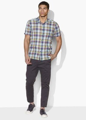 John Varvatos Clyde Plaid Short Sleeve Woven Shirt