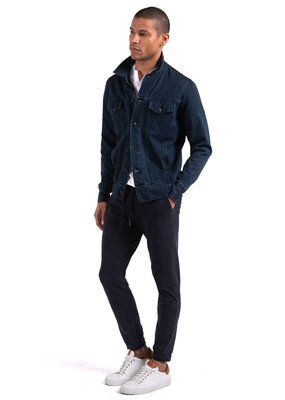 Good Man Brand Jean Jacket Indigo Twill Knit