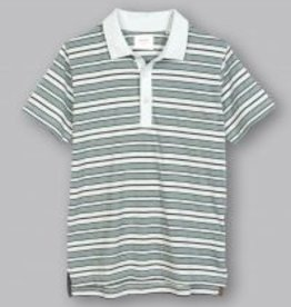 Billy Reid Textured Stripe Polo