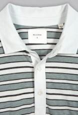 Billy Reid Textured Stripe Polo