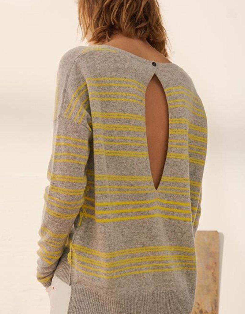 Charli Clove Stripe Cashmere Sweater