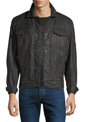 John Varvatos Star USA Jacket Exposed Zip