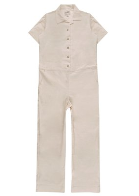 Ladies Jumpsuit Rinsed Oxford