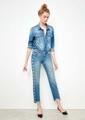 Reiko Straight Crop Jean Preston Holes