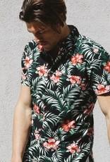 Kato KATO' The Bobbin Black Flower Short Sleeve Shirt