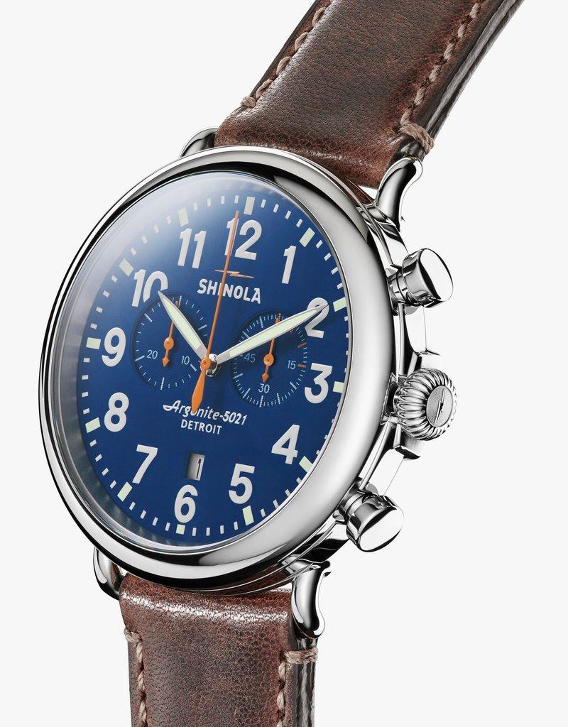 The Runwell Navy Blue Chrono Watch