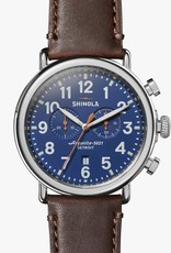 Shinola The Runwell Navy Blue Chrono Watch