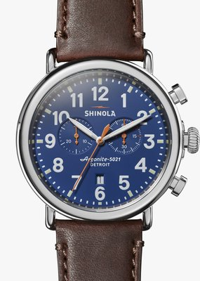 The Runwell Navy Blue Chrono Watch