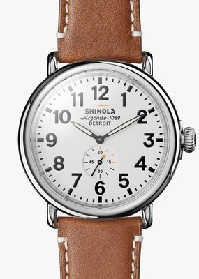 Shinola The Runwell  White Face Watch
