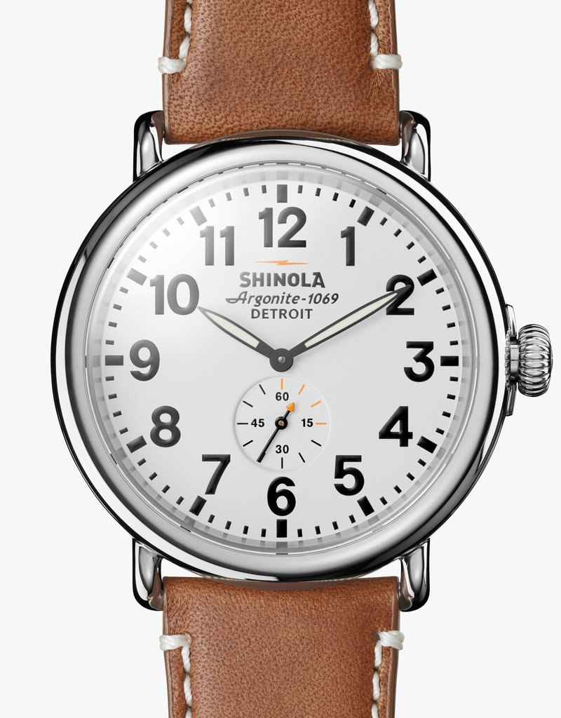 Shinola The Runwell  White Face Watch