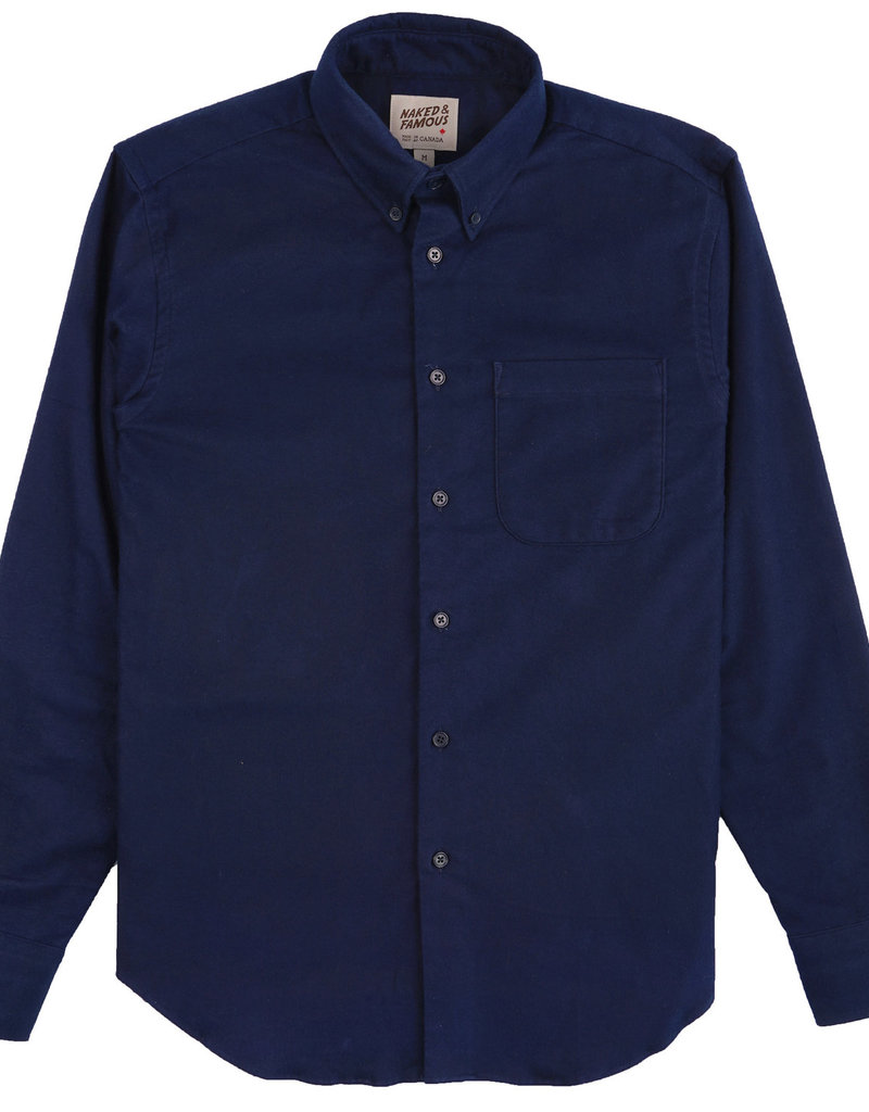 Naked & Famous Easy Shirt Natural Dyed Flannel
